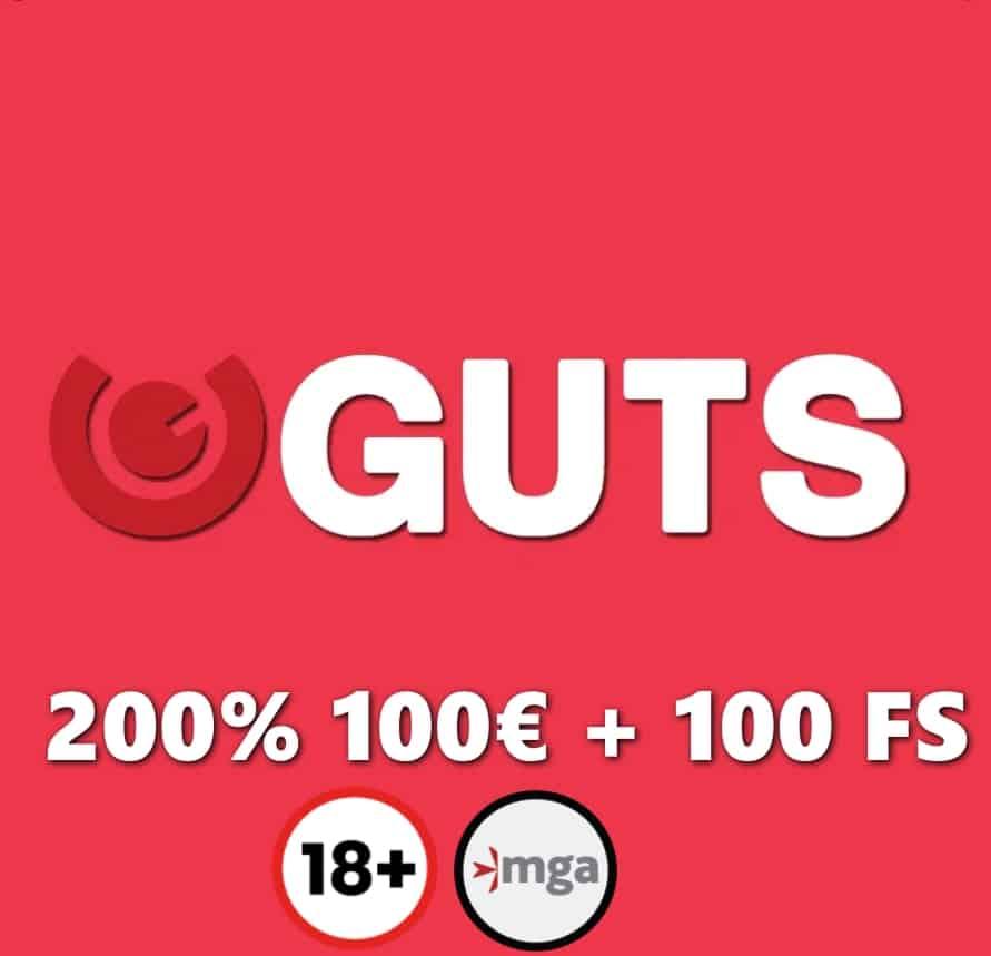 guts casino 200% bonus