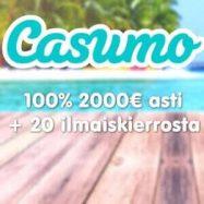 Casumo Casino tervetuliaisbonus banneri