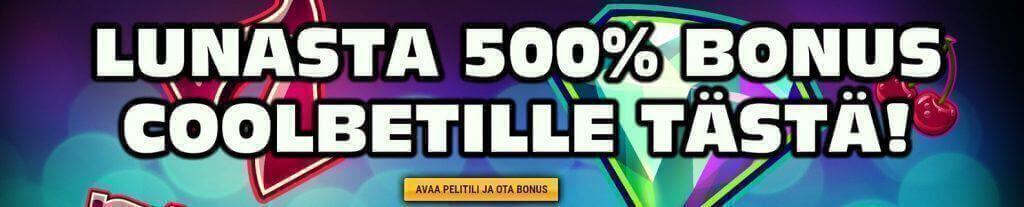 coolbet 500% bonus