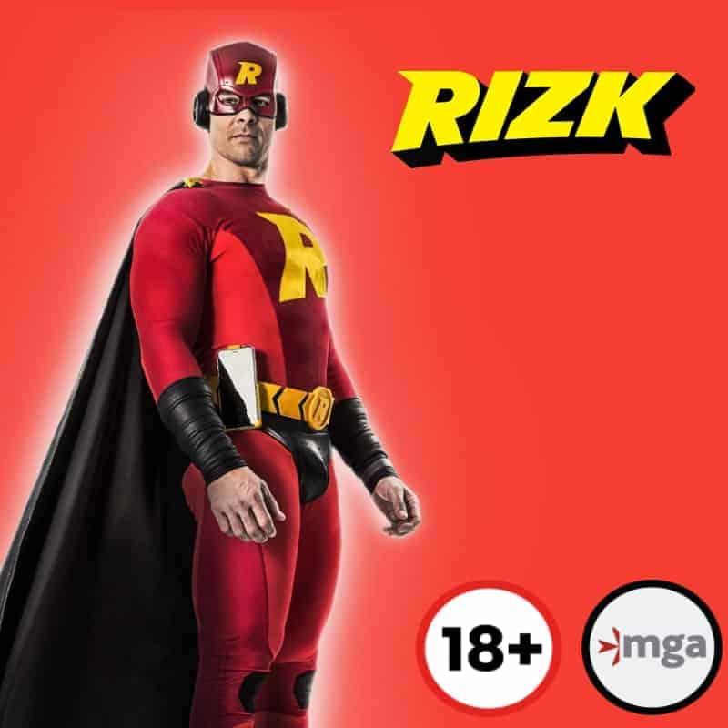rizk casino 18+ logo mga