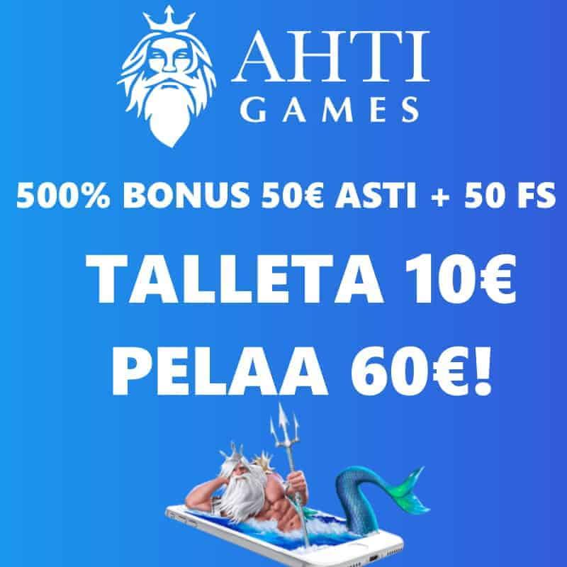 ahti games talleta 10€ pelaa 60€