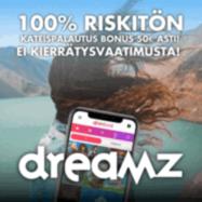 Dreamz Casino 100% käteispalautus