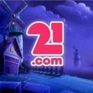 21.com casino logo tuulimyllyt