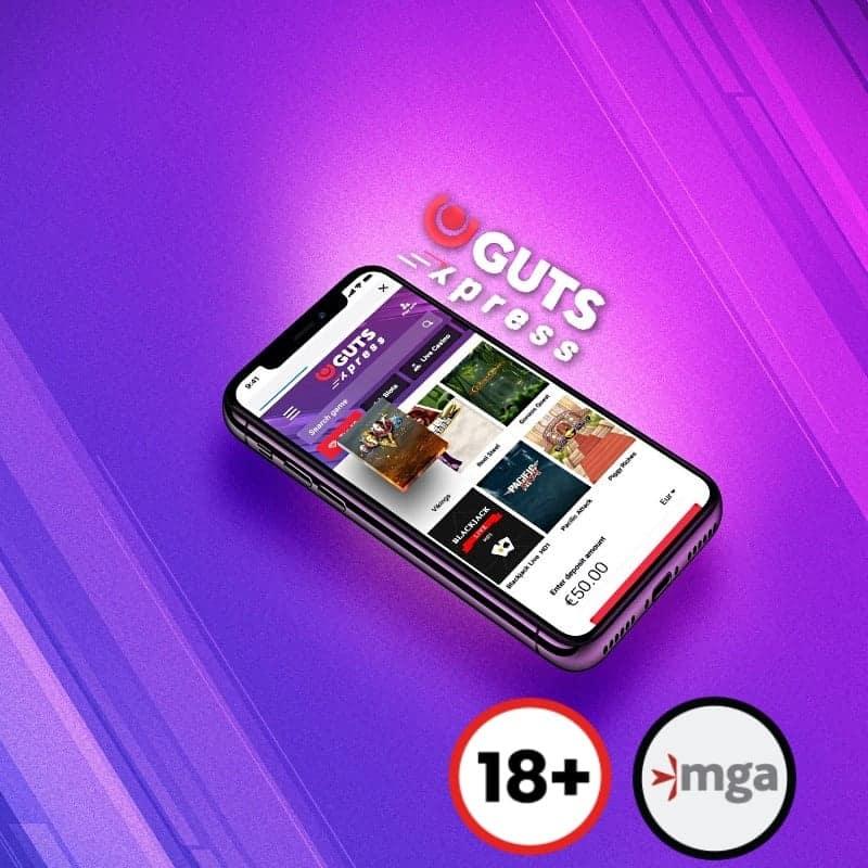 guts xpress 18+ logo mga