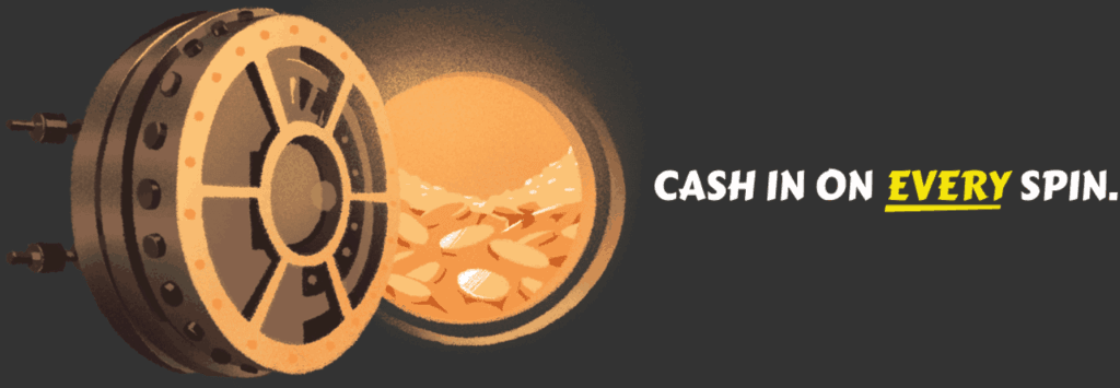Holvi toiminto - cash in every spin