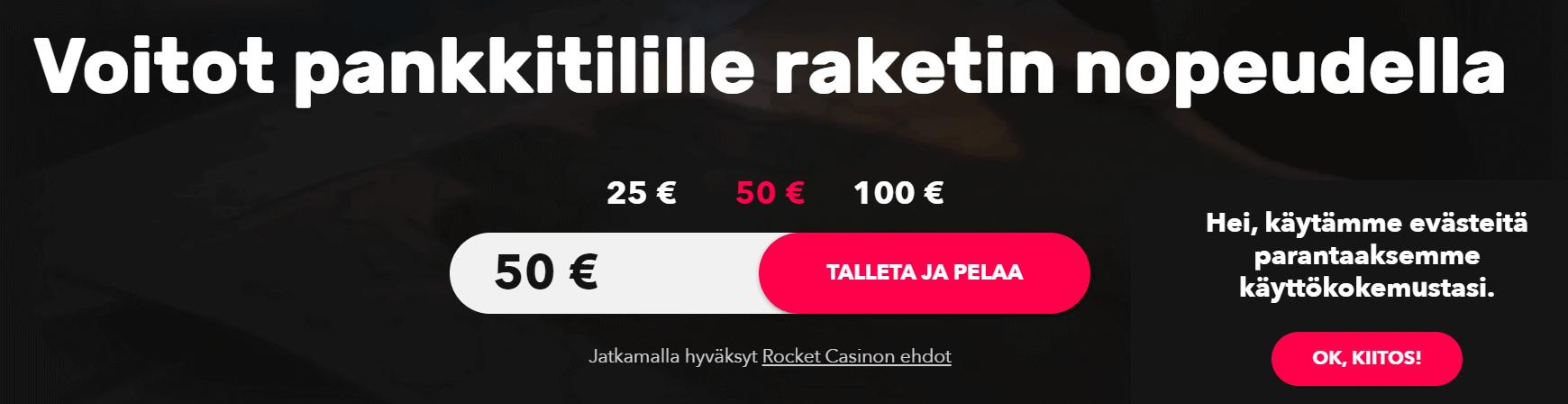 rocket casino talletukset