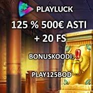 Playluck Casinon ensitalletusbonus 125% 500€ asti
