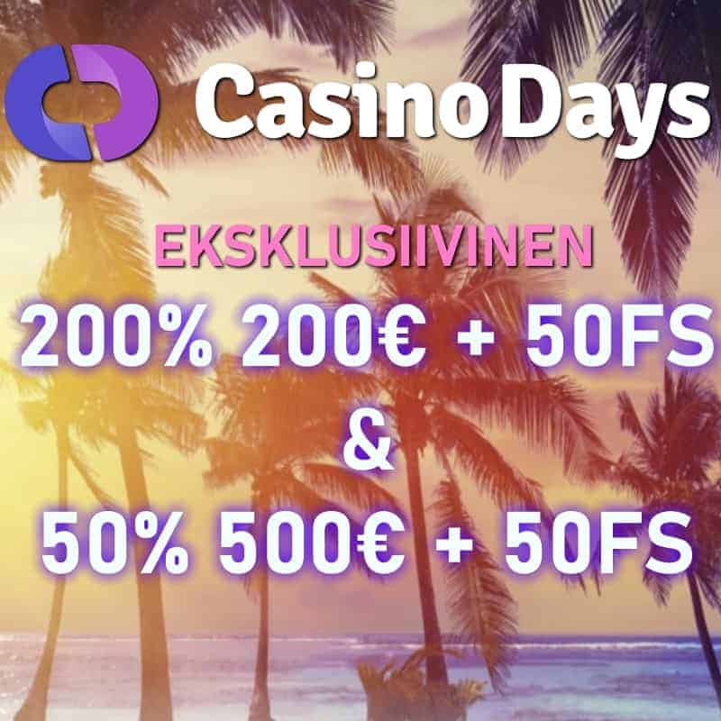 eksklusiivinen casino days bonus